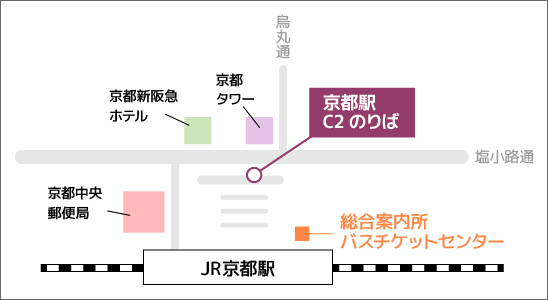 京都駅バスのりば