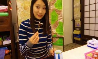 ⑩体験終了後は、お茶とお菓子でごゆっくりして頂けます。