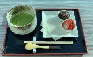 いちご大福と抹茶のセット