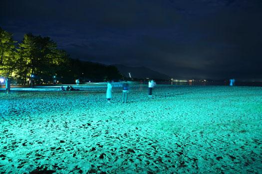 砂浜ライトアップ